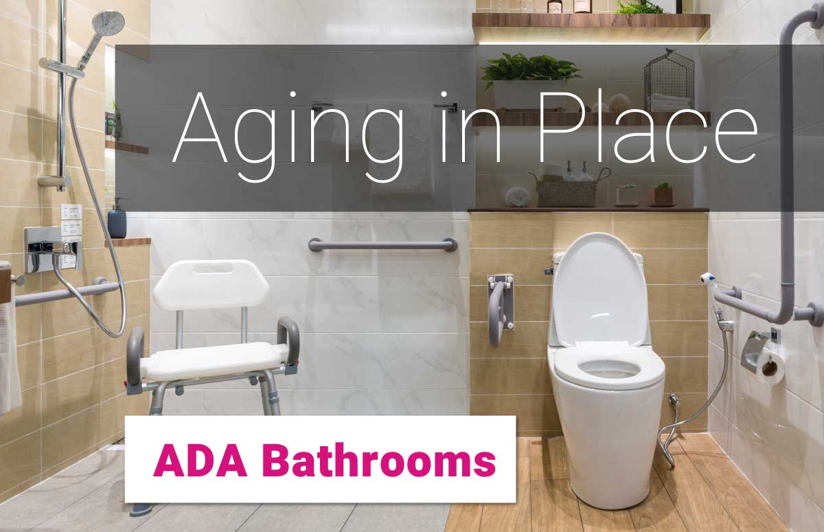 Age in Place! We offer ADA bathroom service, repair and remodeling! Call Justin Time today to schedule your consultation.