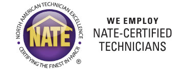 Our technicians and installers are NATE trained and certified!
